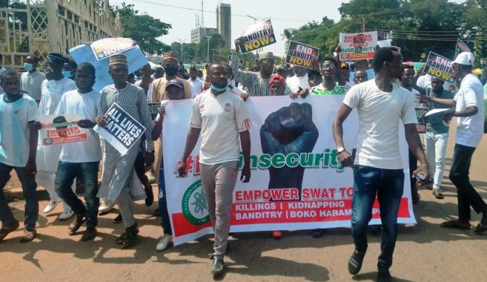 #ENDINSECURITYNOW, Protest, Disrupted by Hoodlums, Kano, Nigeria Police Force