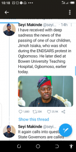 #EndSARS, Oyo Governor, Seyi Makinde, Urges Police, Allow Residents, Protest