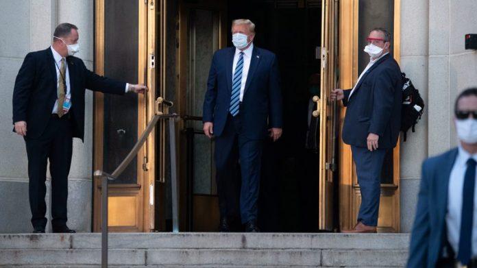 Donald Trump, Returns, White House, Dismisses COVID-19 Threat, Sean Conley