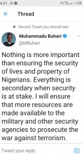Nigerians, Blast President, Muhammadu Buhari, Twitter account, Lame Response, Terrorist Attacks
