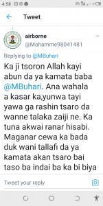 Nigerians, Respond to Buhari, Twitter statement
