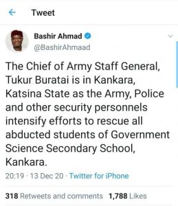 Bashir Ahmad, Twitter